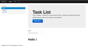 TaskList home